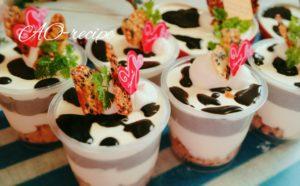 レアチーズケーキ レシピ カップ デコレーション