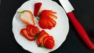 イチゴ フルーツカッティング