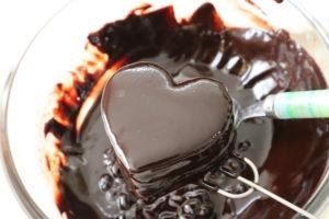 ハート型 チョコケーキ