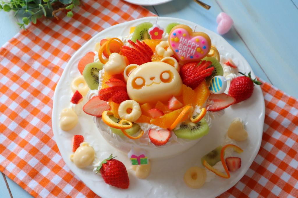 バースデーケーキ 手作り デコ