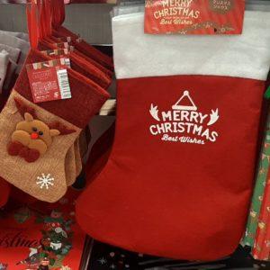 セリア クリスマス サンタ靴下