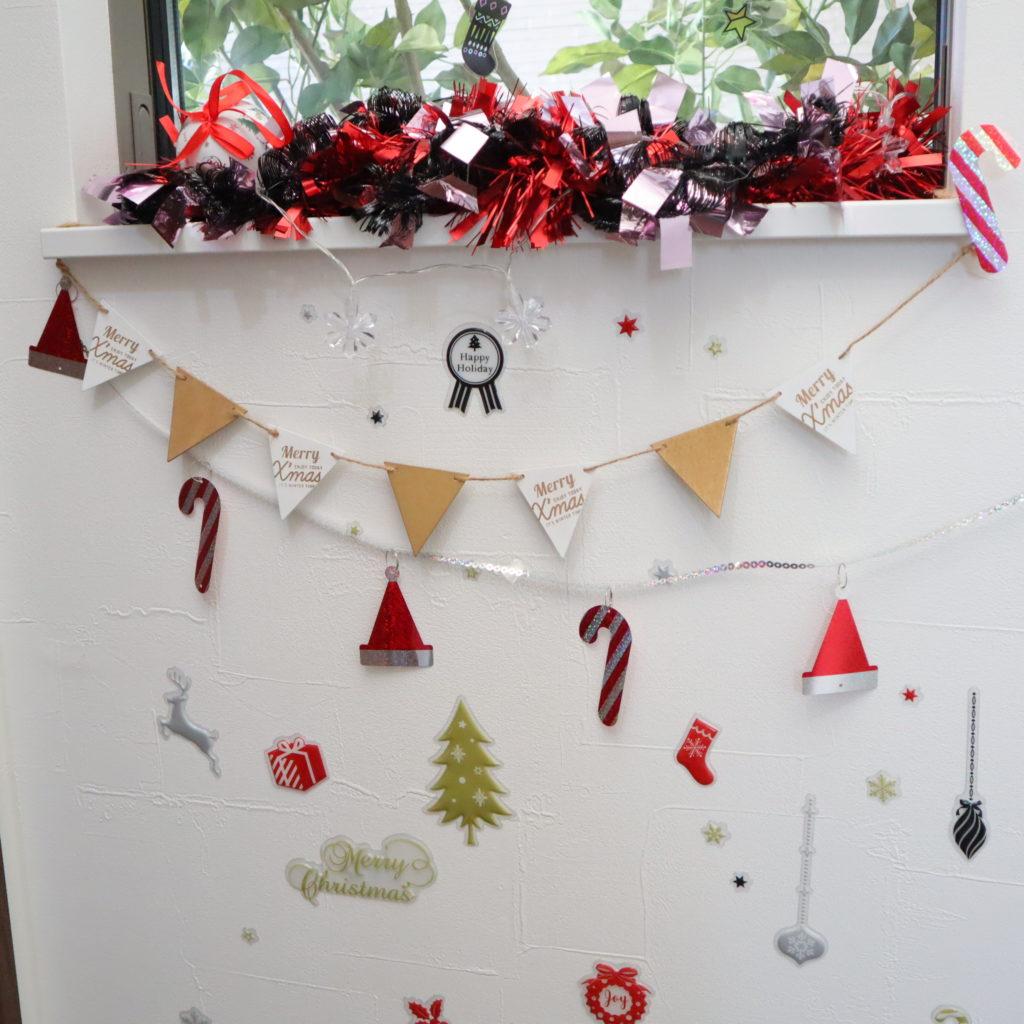 クリスマス 飾りつけ 壁
