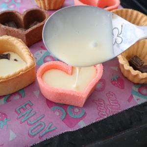 タルトカップ バレンタイン