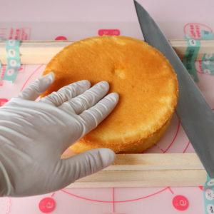 スポンジケーキ 切り方