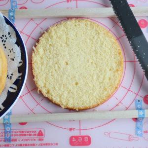 スポンジケーキ スライス方法