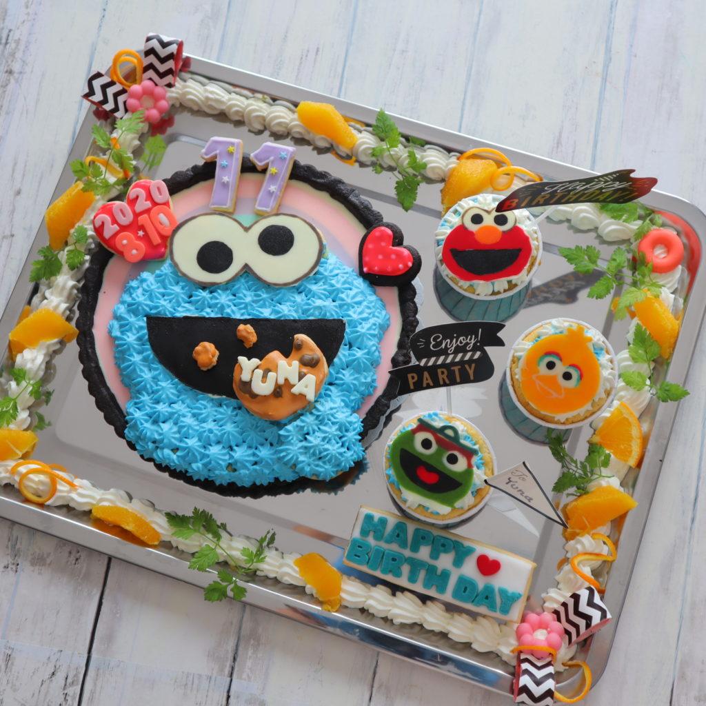 クッキーモンスター ケーキ