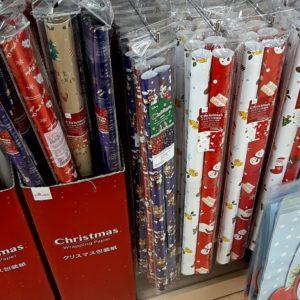 クリスマス 包装紙 100均