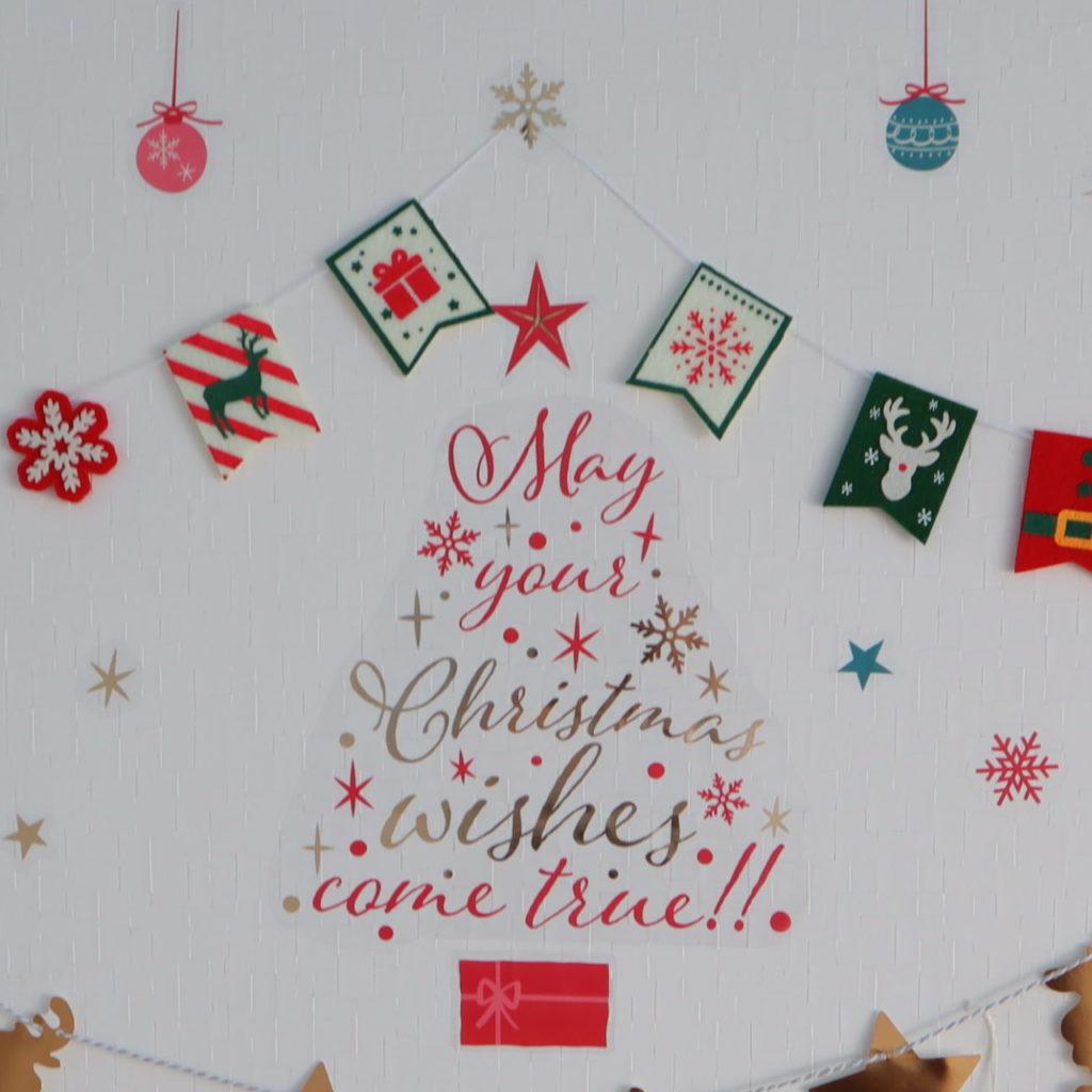 クリスマス 飾り 壁