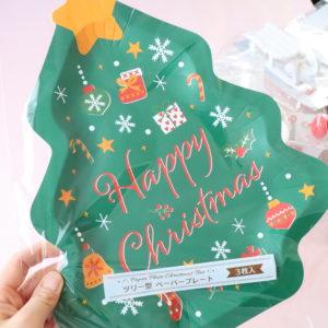 セリア クリスマス 紙皿