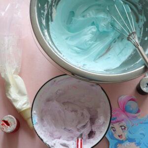 ホイップクリーム 色付け