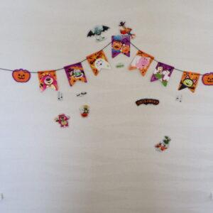 ハロウィン 壁面 飾り