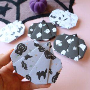 ハロウィン 折り紙 かぼちゃ