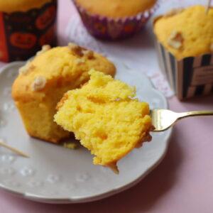 カボチャのカップケーキ
